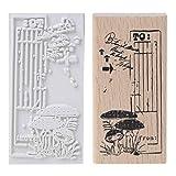 Wiffe Weinlese-Rohe hölzerne Stempel-Notizbuch-Einklebebuch-Handkonto DIY, die Briefpapier verziert