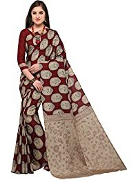 EthnicJunction Manipuri Silk Kalamkari Printed Saree With Unstitched Blouse Piece (EJ1168-7014, Multicolor)
