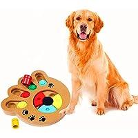 GFEU Pet Intelligence Juguete Ecológico Juguete interactivo Diversión Buscar y comer Alimentos con madera Juguete de