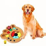 GFEU Pet Intelligence Juguete Ecológico Juguete interactivo Diversión Buscar y comer Alimentos con madera Juguete de juguete de pata para perros pequeños y medianos
