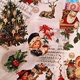 Dekostoff Meterware Digitaldruck - Weihnachten Notenblatt - 140 cm breit