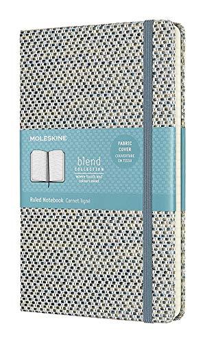 Moleskine Klassisches Liniertes Notizbuch, Blend Kollektion (Hardcover mit Elastischem Verschlussband, Größe A3 13 x 21 - 240 Seiten) blau