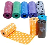 Healthy mazze, 5 rotoli, 100 pezzi, per cani e animali domestici e i rifiuti Poop Bags Pick Up Bag Pooper Pet Supplies