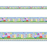 Peppa Pig Cute Carnival Birthday Childrens Party Foil Banner Decoration