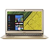 "Acer SF314-51-30Q - Ordenador Portátil de 14"" FullHD (Intel Core i3-6006U, 4 GB RAM, 128 GB SSD, Intel HD Graphics 620, Windows 10); Oro - Teclado QWERTY Español"