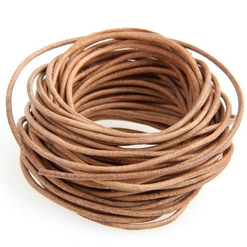 Ecloud Shop® 3 pieces Cordón Cuero Marrón para Collar Pulsera Abalorios Bisutería