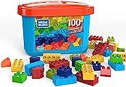 Mega Bloks GJD21 mini byggstenblock med 100 delar, låda med byggstenar för barn, leksak från 2 år