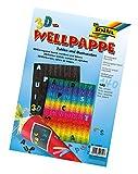 Folia 94700 - 3D Welle Stanzteile, Buchstaben und Zahlen 140 Stück, farbig sortiert