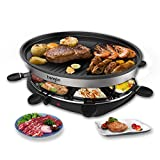Raclette Grill Smokeless Indoor BBQ Table Electric Grill Korean Style Barbecue Non-Stick Griddle