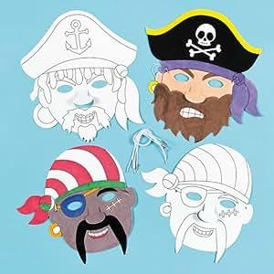 Masken zum basteln und ausmalen pirat f r kinder ideal zum kindergeburtstag und karneval 6 - Bastelideen zu karneval ...