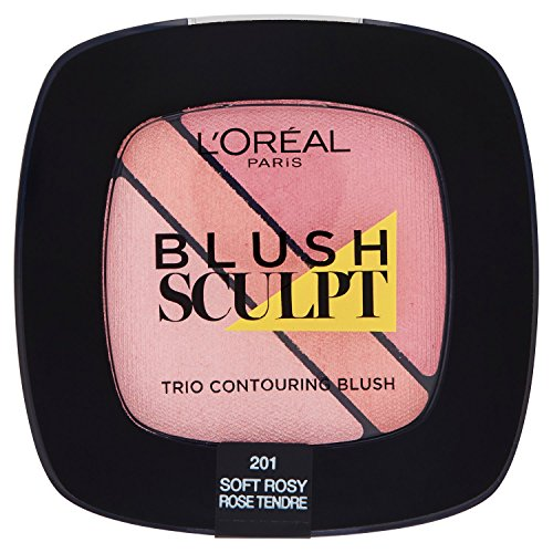 L'Oréal Paris Infaillible Blush Trio, 201 Rosy/Innovatives 3 in 1 Contouring Rouge Set für den...