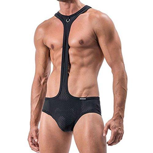 Familizo-Capi-di-abbigliamento-Lingerie-da-Donna–Fami-Novit-Sexy-Uomo-Mankini-perizoma-intimo-Cameriera-Costume-Tuta-Lingerie-Slip
