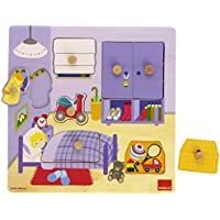 Goula - Puzzle habitacion, 7 piezas de madera (Diset 53034)