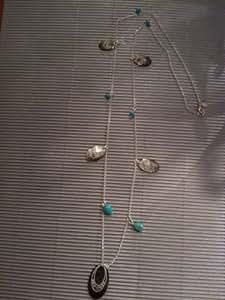 Claude dasque - claude dasque bijoux collier argent nacre,turquoise