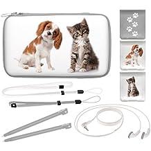 """Nintendo new 3DS XL / 3DS XL / DSi XL  - Zubehör-Set """"Animals"""" (farbig sortiert)"""