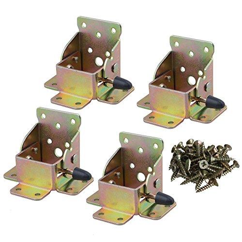 x 55 mm Verlängerung Tabelle Bett klappbare Füße Unterstützung Halterung weichen Klapptisch Bein Unterstützung Schraube Typ Set von 4 ()
