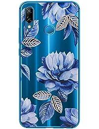 Croazhi Huawei P20 Lite Hülle Silikon Ultra Dünne Durchsichtige Transparent Schlanke Tasche Kristall TPU Handyhülle Bumper Anti-Scratch Rose Gold Schwarz Soft Skin Schutzhülle Resistant Flexible