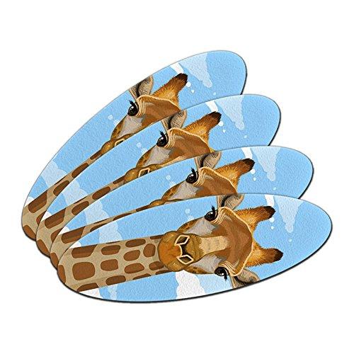 Giraffe In Sky–Safari Tiere doppelseitig oval Nagelfeile Emery Board 4Stück (Nagelfeile Safari)