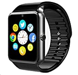 Reloj Inteligente Smartwatch Bluetooth 4.0 con la Batería de larga duración y la Camara de BraceTek,con Instrucción en Español, Análisis de Sueño,Podómetro,Fitness tracker para moviles Android