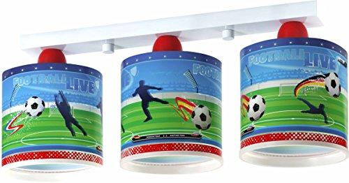Dalber 60463 - Lámpara colgante, 3 luces, diseño fútbol