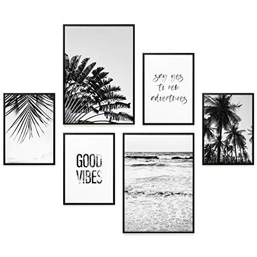 Heimlich® Premium Poster Set   Stilvoller Mix an passenden Bildern für Dein Zuhause   ohne Rahmen » Good Vibes « - Stilvolle Set