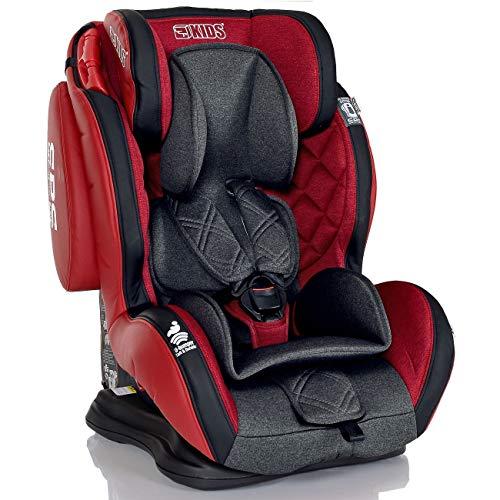 Seggiolino Auto 9-36 kg Bambini Gruppo 1 2 3 LCP Kids GT Comfort; Colore Rosso