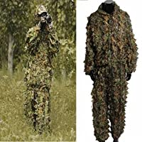 Bheema Woodland Camouflage abbigliamento 3d giungla caccia Nascondi Foglia Ghillie Suit - Ghillie Suits Suit