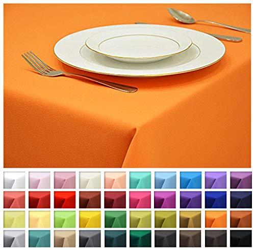 Rollmayer Tischdecke Tischtuch Tischläufer Tischwäsche Gastronomie Kollektion Vivid (Orange 6, 120x160cm) Uni einfarbig pflegeleicht waschbar 40 Farben
