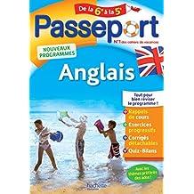 Passeport - Anglais de la 6e à la 5e - Cahier de vacances