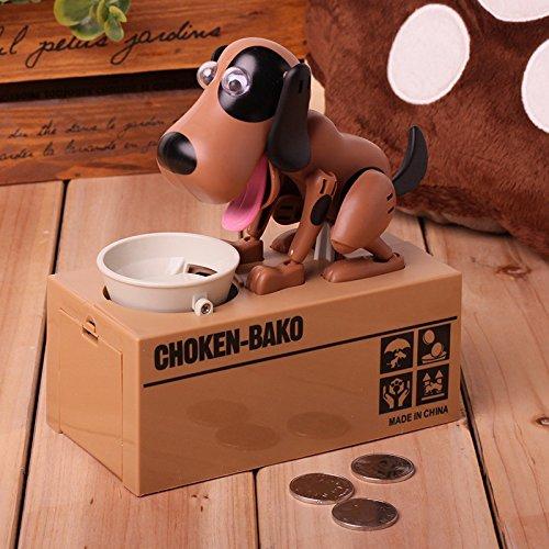 Hapileap Lovely Cachorro de Hambre Comer Perro Niños Banco Coin-eating Ahorro de Dinero Caja de Regalo (Recursos)