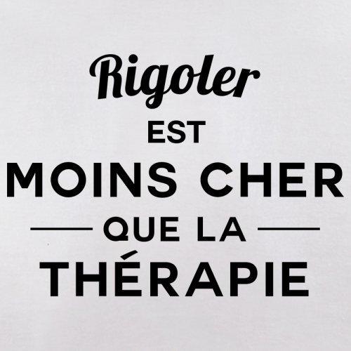Rigoler est moins cher que la thérapie - Femme T-Shirt - 14 couleur Blanc