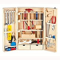 Leomark Wooden Master Tool Set 50pcs Toolbox Preschool Learning Toys Tool Kit
