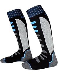 Hibote Hombres Mujeres Niños Calcetines térmicos de esquí Deportes al Aire Libre Calcetines de Ciclismo de