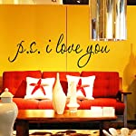 English Letters Alphabets I Love You Wall Decal PVC Home Sticker House Vinyl Paper Decoration WallPaper Living Room Bedroom Kitchen Art Picture DIY Murals Girls Boys kids Nursery Baby Playroom Decor