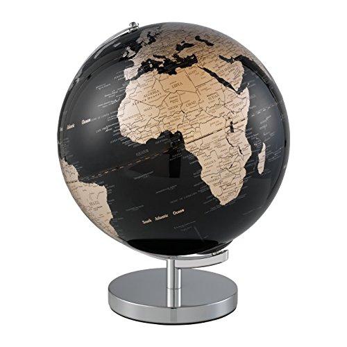 Mascagni Mappamondo Luminoso con Illuminazione a LED Metallo Argento 38x 30x 30cm