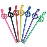 PUNK Music Treble Clef Bent Pencil G Clef Pencil Many Colors Pack of