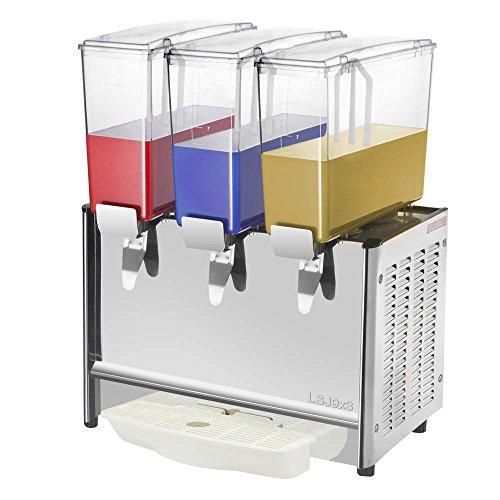 PrimeMatik - Saftdispenser Kommerzielle Getränke Spender mit Spigot Kalt Drink 9L x 3 Tanks