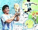 Canvas35 Diego Maradona Argentina Football A1Misura Lucido Poster 83,8x 61cm