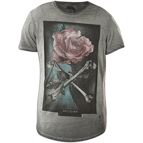 Religion Clothing Herren T-Shirt Shirt Crossbones Grau