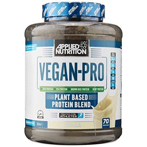 Applied Nutrition Vegan Pro Plant Based Protein Blend Powder Supplement Low Fat & Sugar Natural Flavour...
