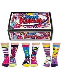 United Oddsocks- Set de 6 de algodón calcetines desparejados para las mujeres - Kandy