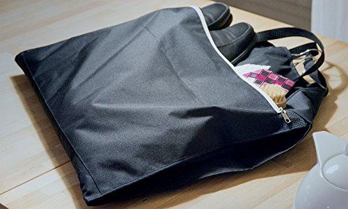 OWLMO - Elegante Premium Anzugtasche/Kleidertasche mit XXL Staufach   Faltbar   ideal als Handgepäck für Business-Reisen   für 3-4 Kleiderbügel   110x63cm   Atmungsaktiv   Ökologische Verpackung