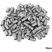 Kit de reparación de inserciones de rosca helicoidal de alambre de acero inoxidable 100pcs M5(M5*0.8 * 3D)