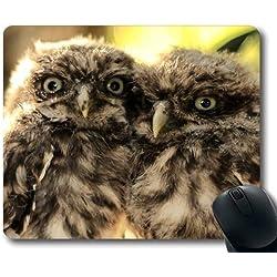 Yanteng Fond d'écran Grand Gaming Mouse Pad, Hibou et Souris HD télécharger pour Mobile, Tapis de Souris avec Bords Cousus