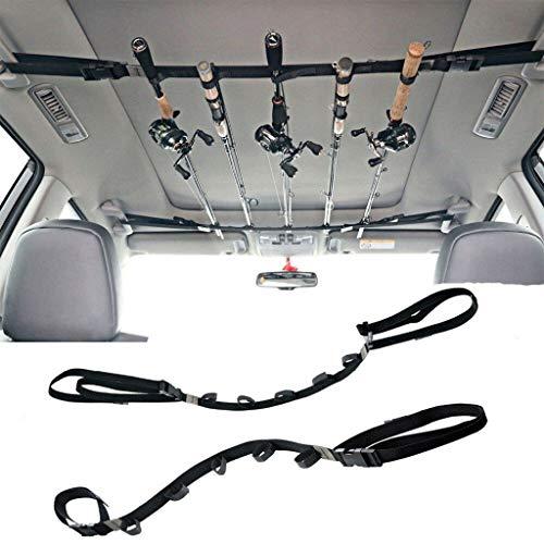MA87 Auto Angelrutenriemen Fahrzeug-Angelrutenhalter 3,8 cm breit und 2,2 m lang 2 STÜCKE