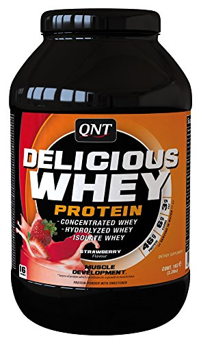 QNT Delicious Whey Protein Powder, Strawberry, 1 kg