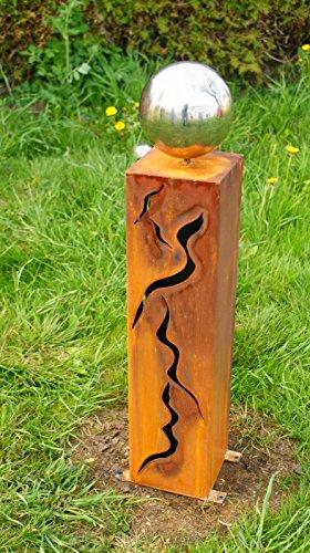 Rostsäule 60 cm mit Muster Zum Beleuchten Gartendeko Rostdeko