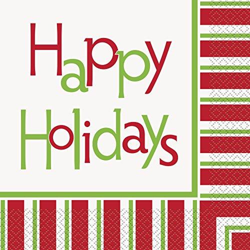 Felices Fiestas de Navidad servilletas de papel (, 16unidades)