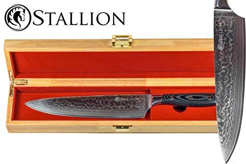 Stallion Damastmesser 22cm