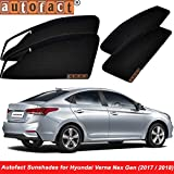Autofact Magnetic Window Sunshades for Hyundai Verna Fluidic (Black) - Set of 4